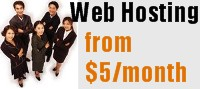 Web Hosting from just $5 per month!